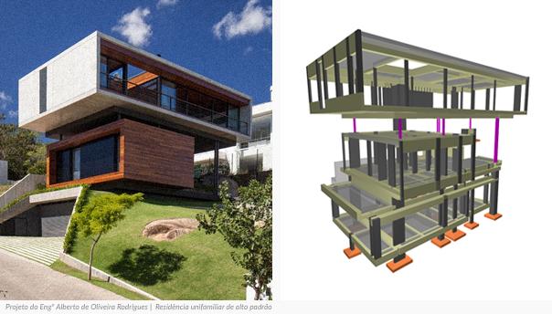 Projeto do Engº Alberto de Oliveira Rodrigues | Residência unifamiliar de alto padrão